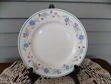 "Vintage 7 7/8"" Salad Plate Ava by Oneida China Blue, Purple Flowers Green Trim"