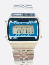 Vintage Qualtron Melody Lcd Alarm Chronograph  Digital Wrist Watch NOS (136M)