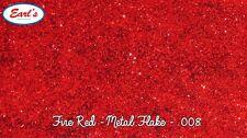 "100g Fire Red metal flake paint standard size 0.008"" metalflake hot rod glitter"