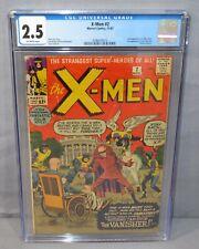 THE X-MEN #2 (Vanisher 1st app) CGC 2.5 GD+ Marvel Comics 1963 Uncanny
