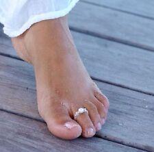 Gorgeous Pearl Beach Boho Toe Rings Ring Wedding Bridal Adjustable Size