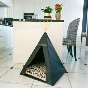 Glamour Teepee dog bed - Panther, dog bed with pillow*luxury dog house*dog tent