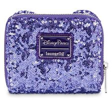 Disney Parks Exclusive Loungefly Minnie Potion Purple Ears Sequined Wallet New