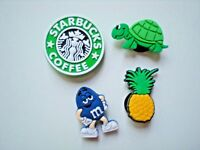 Jibbitz Clog Shoe Charm Crocs Bracelet Accessories 4 Starbucks Pineapple Turtle