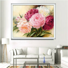 Peony flowers 5D Diamond DIY Embroidery Painting Cross Stitch Craft Room Decor  