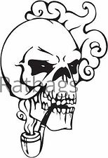 Etiqueta engomada de 50 cm X 34 cm gráfico de cráneo todos los colores Vinilo Calcomanía-cráneo 036