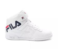 Nuevo Fila Mujer F-13 Logo Piel Blanca Zapatos Top Alto Talla Izquierdo 8