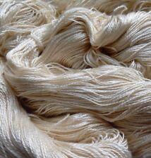 Luxury Maharaja Laceweight Silk Yarn, 75g. Cream. Weaving/Textiles/Crochet/Knit