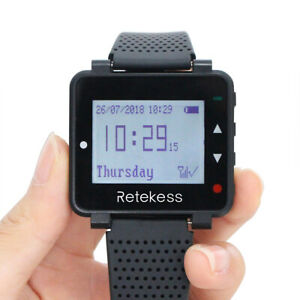 Retekess T128 Watch Receiver 500CH LCD for Wireless Pager System Cafe Bars Club