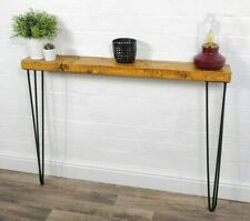 Console Table Slimline Hair Pin Legs | Reclaimed Timber  | Solid Wood Furniture