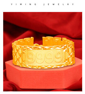 New fashion numbers 22K 23K 24K THAI BAHT YELLOW GOLD GP NECKLACE Men's Bracelet
