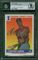 Braves Chipper Jones Authentic Signed 1991 Score #671 RC Auto Card BAS Slabbed