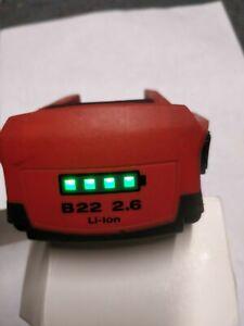 1 batterie hilti  B 22 en 2,6Ah  li ion