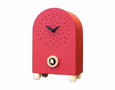 Orologi a Cucù da appoggio, in Legno, Rosso, Cuckoo Wall Clock, Design