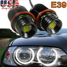 160W LED White Headlight DRL Angel Eye Halo Ring Bulb For BMW E39 E60 E53