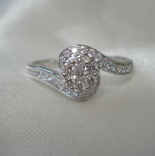 Certified SI Clarity Diamond White Gold Engagement Ring
