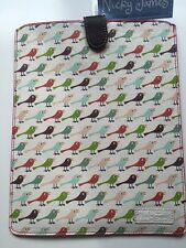 Nicky James Cuero Funda Cubierta aves iPad 2/3 Air