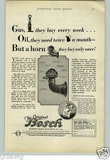 1927 PAPER AD Robert Bosch Magneto Co Car Automobile Horn
