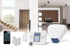 SecuPlace Risco ELKITW2GTRI Wireless Burglar Alarm Kit Wifi+GSM+Smartphone app