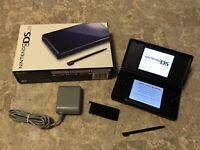 Nintendo DS Lite Cobalt/Black Console in Box!
