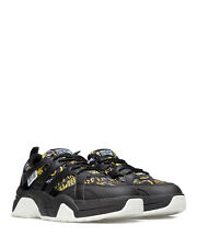 Men's Shoes Sneakers VERSACE JEANS COUTURE E0YZASF2 Black Synthetic Leather