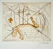 Jonathan Meese - Hagen von Tronle's verlorenes Auge - Farbradierung - 2007