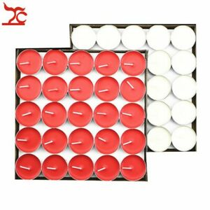 50x Light Butter Lamps 2 hours Smokeless Buddha Tea Wax Scented Candles Birthday