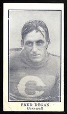 1912 C61 IMPERIAL TOBACCO LACROSSE #34 FRED DEGAN VG CORNWALL TEAM