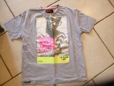 """TEE SHIRT GRIS """" RIVALDI """" TAILLE 16 ANS OU S  / NEUF ET INDISPENSABLE !!!"""