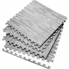 Large Grey Wooden Foam Mat Garage Exercise Yoga Gym Gymnastic Fitness Floor Mats