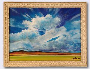 """Striking Sky"" Original Painting Framed & Signed Sky Clouds Emptiness Peaceful"