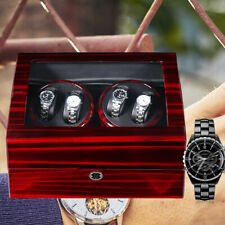 with soft Pu watch pillows,Timer Modes 4+6 Storage Watch Winder Box 4 turntables