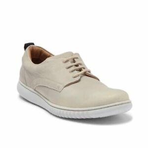Marc Joseph New York Mens Soft Leather Cream Derby Lace up Sneaker Sz 9.5 NIB