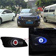 Fog Lights Kits + COB Angel Eye Bumper Cover Lens For Chevrolet Aveo 2010-2012
