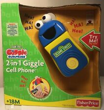 Sesame Street Giggle Surprise 2 In 1 Cell Phone New Inbox HTF RARE