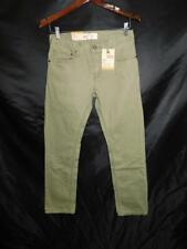 Levi's 16 Reg 28 x 28 NWT 511 Slim Fit Jeans Olive Green Boys Below Waist NEW