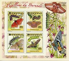 Burundi 2014 MNH Farfalle e millepiedi 4V Deluxe M / S i INSETTI Papillons