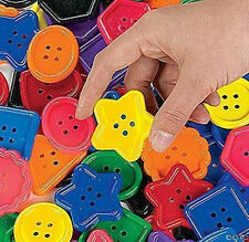 BIG~LARGE CRAFT BUTTONS & EDUCATIONAL ACTIVITIES FOR KIDS~BRIGHT COLORS & SHAPES