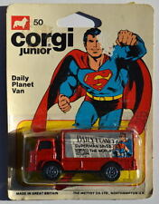 Vintage CORGI JUNIOR #50 SUPERMAN DAILY PLANET VAN 1976 1:64 UK Mettoy MOC
