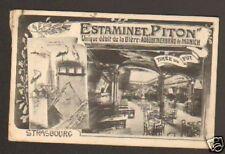 "STRASBOURG (67) ESTAMINET PITON ,BIERE ""AUGUSTINERBRAU"""