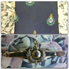 Royal Marines (Crest) Tie & Tie Bar Set With ROYAL MARINE Tie Bar (light) RM
