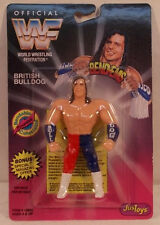 Wwf Wwe JusToys Bend-Ems Series 2 British Bulldog (Moc) Bendies Just Toys