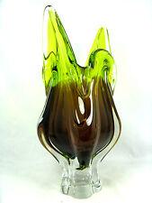 Unusual Josef  Hospodka design glass vase Bohemia / Glas Vase Böhmen  33,5 cm