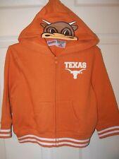 Texas Longhorns Bevo Full Zip Hoodie Toddler Boys Girls Size 24 Months #35