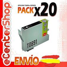 20 Cartuchos de Tinta Negra T0891 NON-OEM Epson Stylus SX100