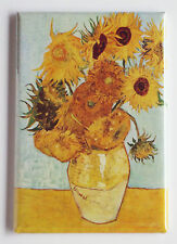 Sunflowers FRIDGE MAGNET (2 x 3 inches) vincent van gogh painting f.456