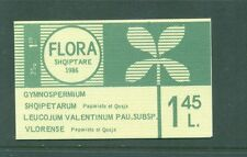 Albania 1986 Flower Booklet with perforated Flower stamps