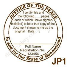 Personalised Custom Self Pre ink Justice of Peace/ JP True Copy Stamps 40mm JP1
