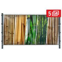 Bambus Motivbanner Garten, Sichtschutz, Gartendeko, Plane, 5 Motive