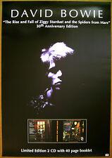 DAVID BOWIE Ziggy Stardust promo POSTER • 2002 Virgin -- 20 inch x 30 inch